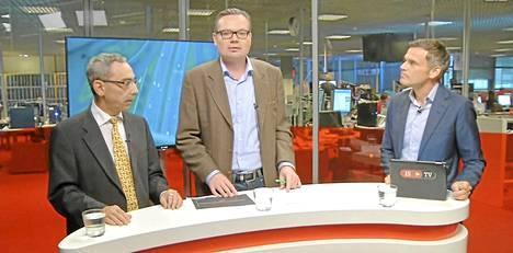 Kansanedustaja Ben Zyskowicz vieraili ISTV:n studiossa perjantaina. Aiheena oli palkansaajajärjestöjen mielenilmaus.