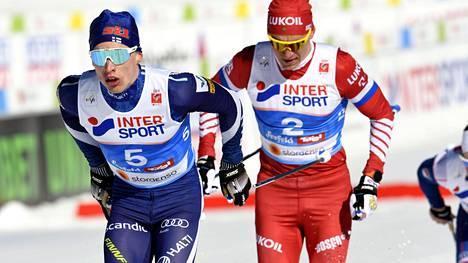 Iivo Niskanen ja Aleksandr Bolshunov ovat tuttu taistelupari jo viime talven olympialaisista.