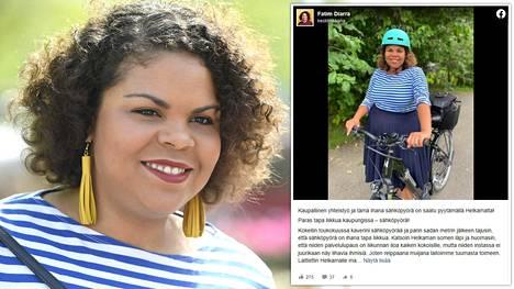 Fatim Diarra uskoo saaneensa ilmaisen pyörän oman Instagram-aktiivisuutensa perusteella.