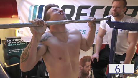 Joonas Mäkipelto teki syksyn 2018 SM-kisoissa 61 toistoa, joista hyväksyttyjä oli 58.
