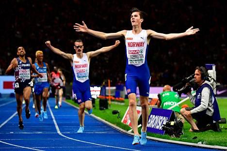 Ingebrigtsenin veljekset ottivat 5000 metrillä kaksoisvoiton.