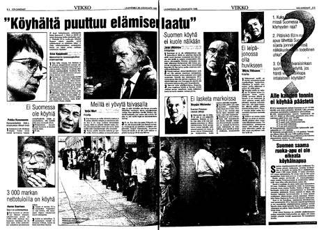 EU:n ruoka-avusta kyseltiin kansanedustajilta Ilta-Sanomissa 28. lokakuuta 1995.