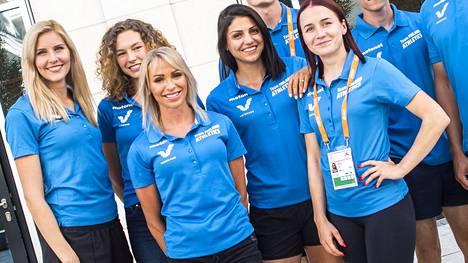 Esimerkiksi tämä Berliinin EM-kisoissa 2018 kuvattu viisikko nimettiin Team Finland -kärkiryhmään. Kuvassa vasemmalta kolmiloikkaaja Kristiina Mäkelä, korkeushyppääjä Ella Junnila sekä pika-aiturit Annimari Korte, Nooralotta Neziri ja Reetta Hurske.