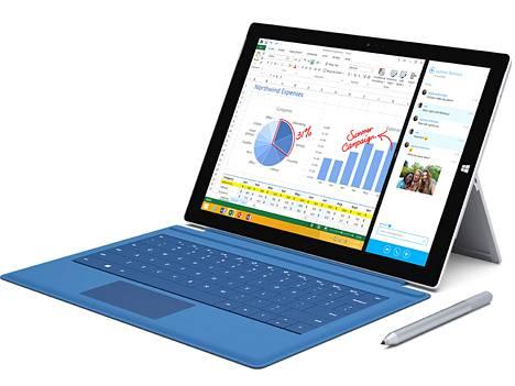 Näppäimistö ei kuulu Surface Pro 3:n hintaan, kynä kuuluu.