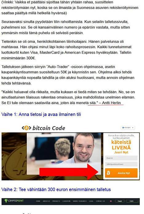 Tekaistussa uutisessa on valheellinen haastattelu, jonka Antti Herlin olisi mukamas antanut.