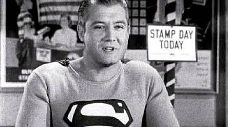 George Reeves näytteli pääosaa elokuvassa Stamp Day for Superman vuodelta 1954.