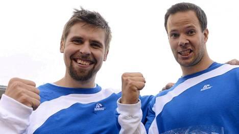 Antti Ruuskanen (vas.) ja Tero Pitkämäki