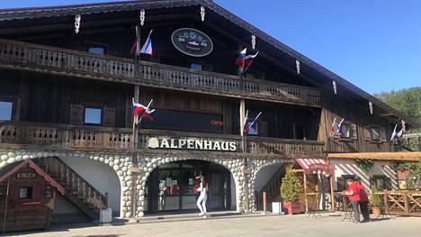 Ravintola Alpenhaus Pietarissa.
