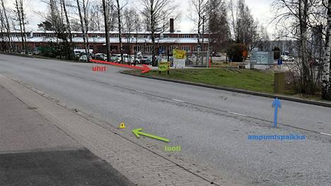 Helsingin poliisi on saanut valmiiksi törkeää pahoinpitelyä ja murhan yritystä koskevan esitutkinnan. Tapahtumapaikka Pyhtäänkorventie, Vantaa.