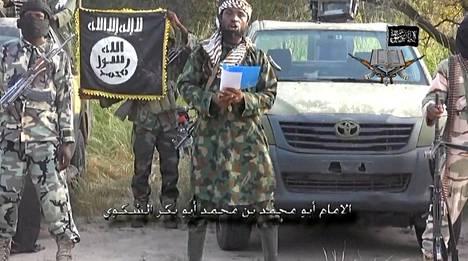 Otos Boko Haram -järjestön uudelta videolta, jolla esiintyy kuolleeksi väitetty Abubakar Shekau.