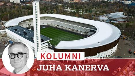 Olympiastadionin viisi vuotta kestänyt remontti valmistuu kesällä 2020, jolloin rakennuksen on määrä näyttää tältä.