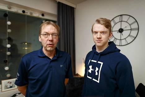 Jari Utunen on ammatiltaan leipuri. Toni Utunen on nyt ammattijääkiekkoilija.