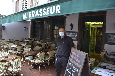 Tarjoilija Josselin Pecqueux kuvattuna Strasbourgissa, Ranskassa 16. syyskuuta 2021.