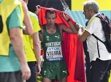 Joao Vieira uurasti 50 kilometrin kävelyssä kakkoseksi.