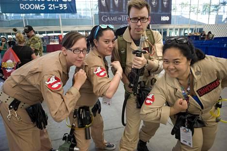 Ghostbusters oli myös suosittu teema Comic Conissa. Uusi Ghostbusters-elokuva sai ensi-iltansa viime viikolla.