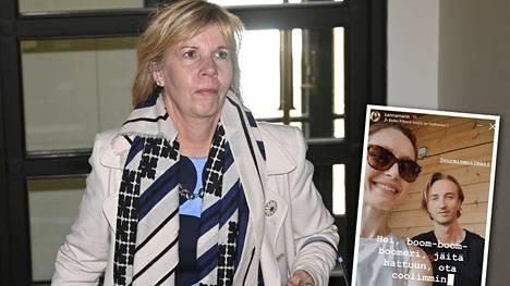 Oikeusministeri Anna-Maja Henriksson pohti, miten boomer-termi mahtaa kääntyä ruotsiksi.