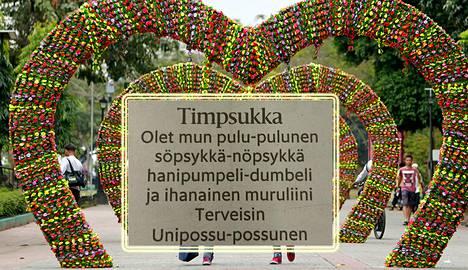 Ilmoitus julkaistiin ystävänpäivänä Helsingin Sanomissa (kuvaa muokattu).