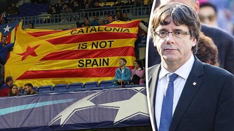 Aluehallinnon johtaja Carles Puidgemont vaati Espanjan hallitusta vuoropuheluun