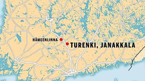 Janakkalassa sijaitsevassa Turengissa on myrkyllistä kaasua ilmassa.