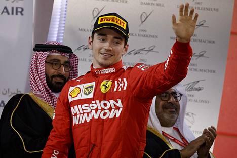 Bahrainin kolmossija oli Leclercin uran ensimmäinen palkintokorokesijoitus formula ykkösissä.