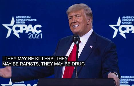 Donald Trump nautti esiintymisestään Floridassa sunnuntaina.