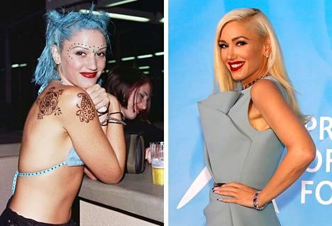 Vasemmalla Gwen vuonna 1998, oikealla Gwen vuonna 2019. Uskoisitko häntä viisikymppiseksi?