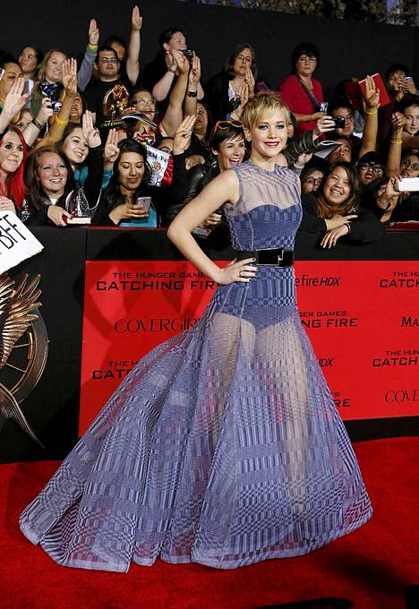 Jennifer Lawrence säväytti ensi-illassa.