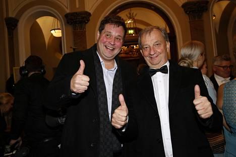 Jethro Rostedt ja Hjallis Harkimo viihtyivät jatkoilla yhdessä.
