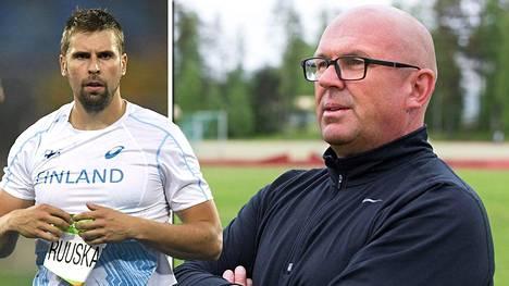 Antti Ruuskasen valmentaja Jarmo Hirvonen ei pitänyt näkemästään.