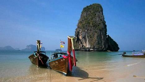 Lukijat lähettivät upeita kuvia hiihtolomamatkoiltaan. Tämä kuva on Thaimaasta, Railayn saarelta.