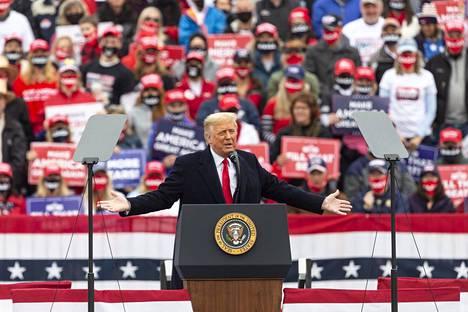 Trump piti kampanjatilaisuutta Pennsylvaniassa sunnuntaina.
