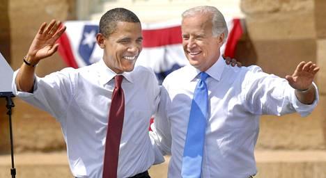 Barack Obaman ja Joe Bidenin yhteinen taival alkoi vaalikampanjasta kesällä 2008.