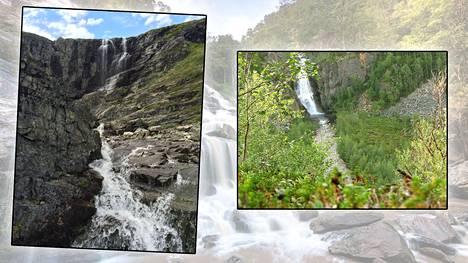 Suomessakin on useita vesiputouksia. Vasemmalla näyttävä Kitsiputous.