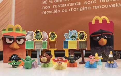 Tältä näyttävät Angry Birds -hampurilaispakkaukset.