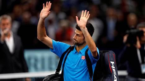Novak Djokovicin (kuvassa) tappio tietää sitä, että Andy Murraylla on mahdollisuus nousta ATP-listan kärkipaikalle.