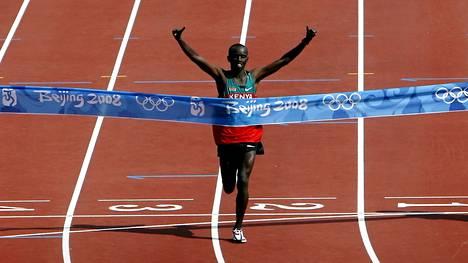 Samuel Wanjiru voitti maratonin Pekingin olympialaisissa.