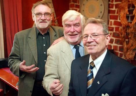 Jukka Virtanen, Aarre Elo ja Matti Kuusla kuvattuna 2013.