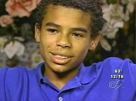 Donte Williams on kasvanut Jacksonin perheen luona. Kuvassa hän on 12-vuotias.