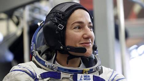 Jessica Meir kosmonauttien koulutuskeskuksessa Moskovassa elokuun lopulla.