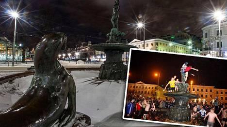 Havis Amandalla juhlittiin vuonna 2011. Huomenna voi tulla kylmä.