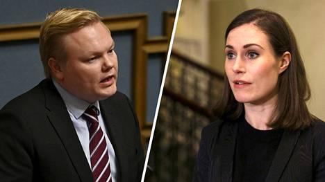 Keskustan mielestä Sanna Marin nosti Antti Kurvisen tarpeettomasti tikun nokkaan.