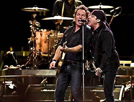 Bruce Springsteen esiintyy tänään Tukholman Globenissa.
