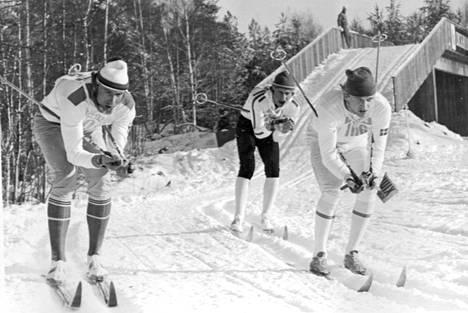 Juha Mieto ja Thomas Magnusson (oik.) vuonna 1974.