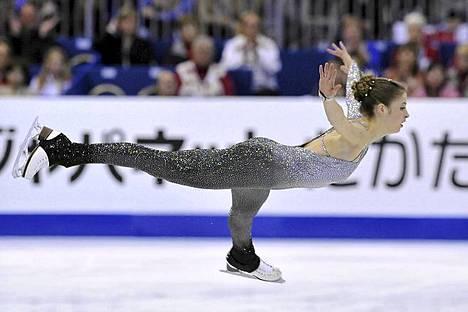 Italiasta kotoisin oleva Carolina Kostner luisteli MM-kultaa Nizzassa.