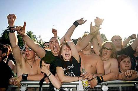 Volbeat huumasi yleisön.