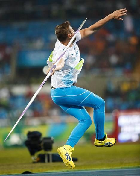 Ruuskasen tyylinäyte Rion olympialaisissa vuonna 2016.
