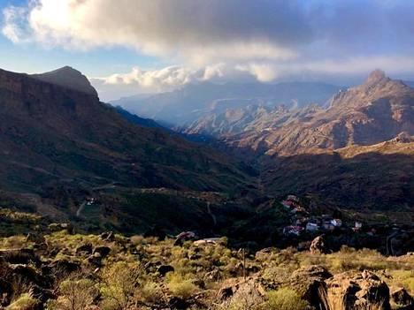 Vuoristomaisemaa Gran Canarian saaren keskiosassa.