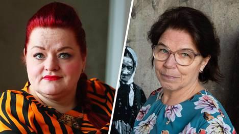 Tehyn puheenjohtaja Millariikka Rytkönen ja Superin puheenjohtaja Silja Paavola (oik.) sanovat valmiuslain rikkovan hoitajien perusoikeuksia.