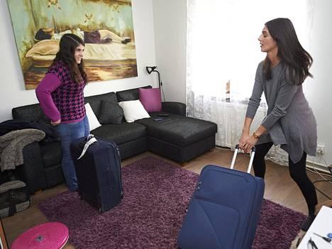 Portugalilaiset Ana Serra ja Claudia Penedo majoittuivat Airbnb-kohteessa Helsingin Kalliossa viime keväänä.