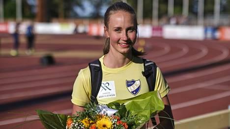 Viivi Lehikoinen voitti Jyväskylässä 2. kesäkuuta naisten 400 metrin aitajuoksun uudella ennätysajallaan 56,33.